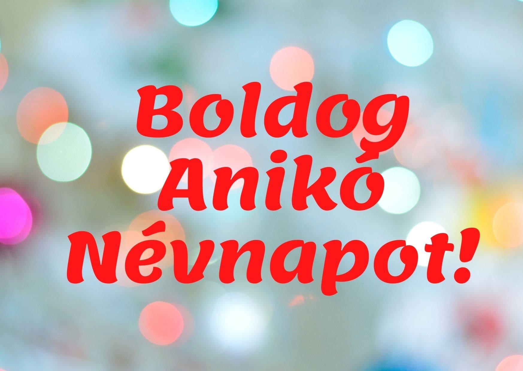 Anikó névnapra képeslap