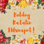 Katalin névnapi képeslap