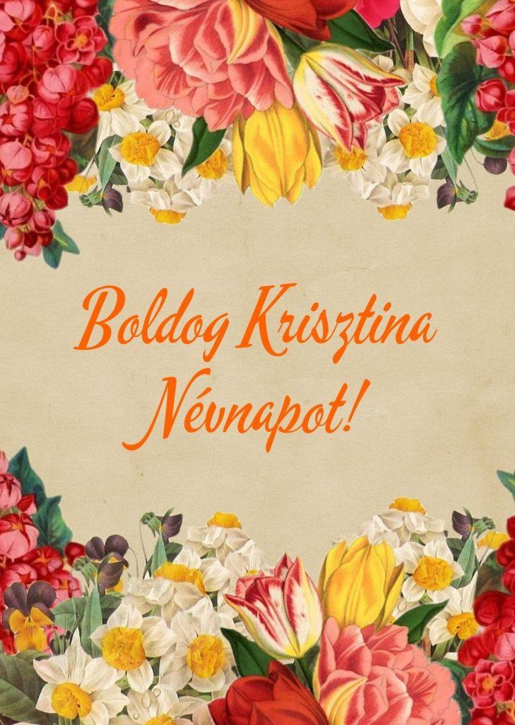 Krisztina névnapra képeslap