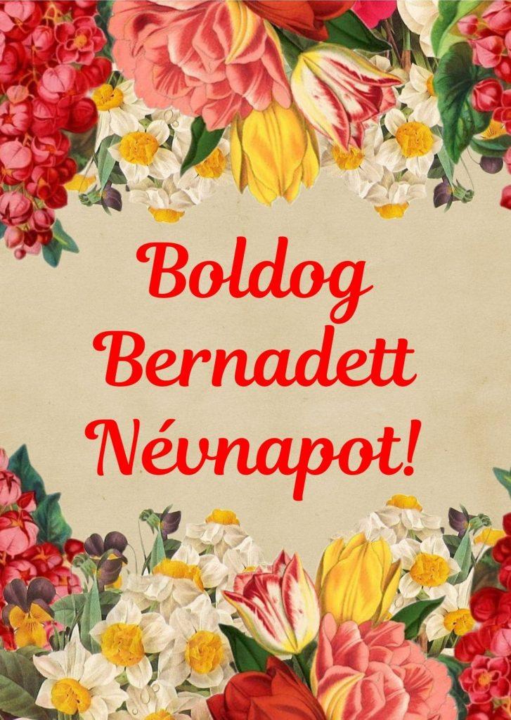 Bernadett névnap képeslap