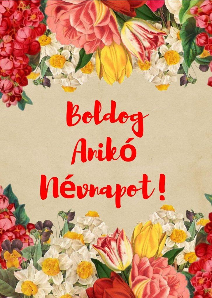 Anikó névnap képeslap
