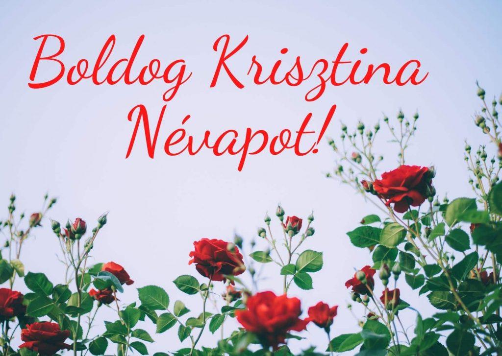 Krisztina névnap képeslap