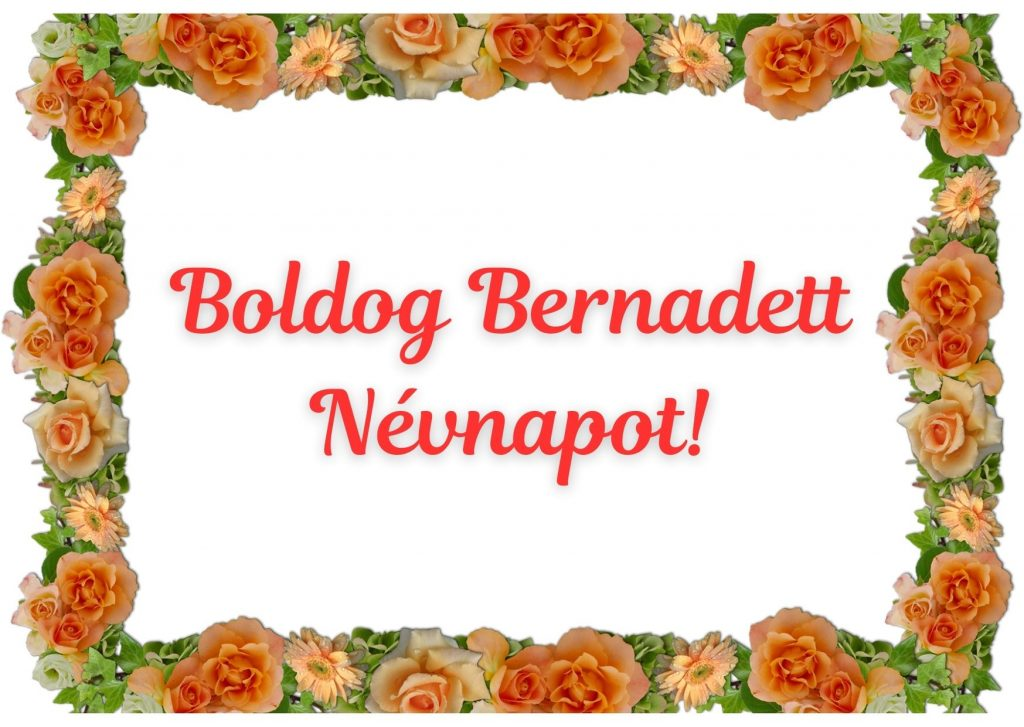 Bernadett névnapi képeslap