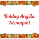 Angéla névnapi képeslap