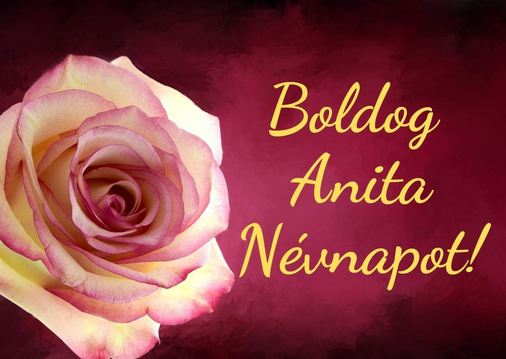 Anita névnapra képeslap