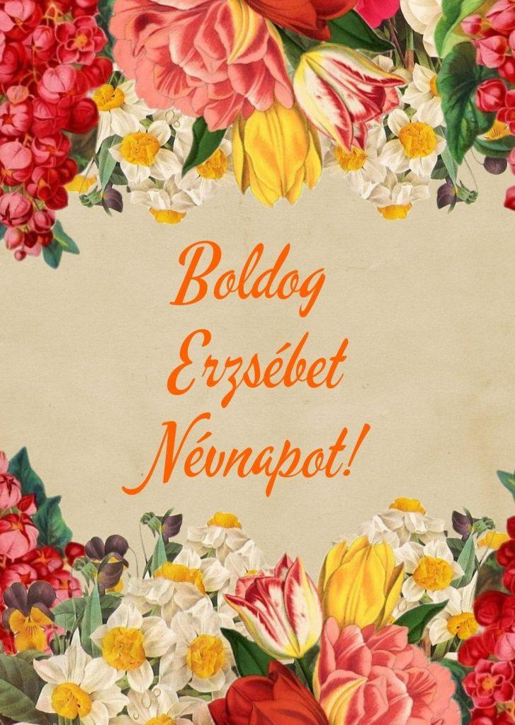 Erzsébet napra képeslap