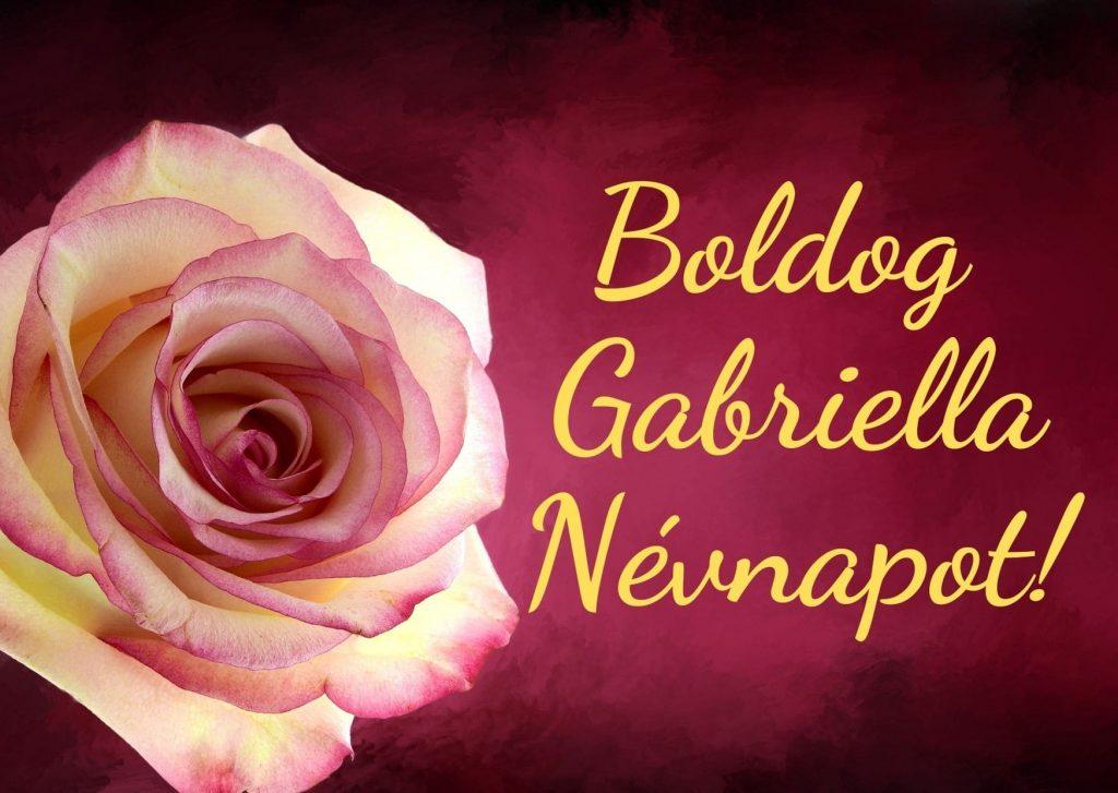 Gabriella névnap képeslap