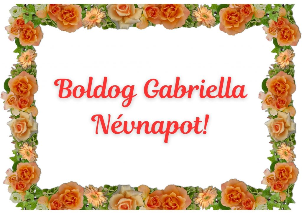Gabriella napra képeslap