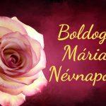Mária névnapi képeslap