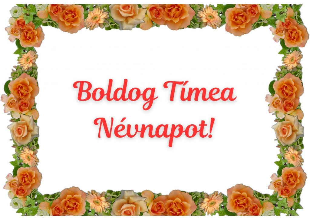Tímea névnapi képeslap