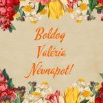 Valéria névnapi képeslap