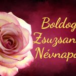 Zsuzsanna névnap képeslap