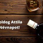 Attila névnap képeslap