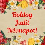 Judit névnapra képeslap
