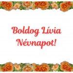 Lívia névnapi képeslap