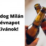 Milán névnapi képeslap