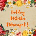 Mónika névnapi képeslap