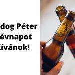 Péter névnapi képeslap