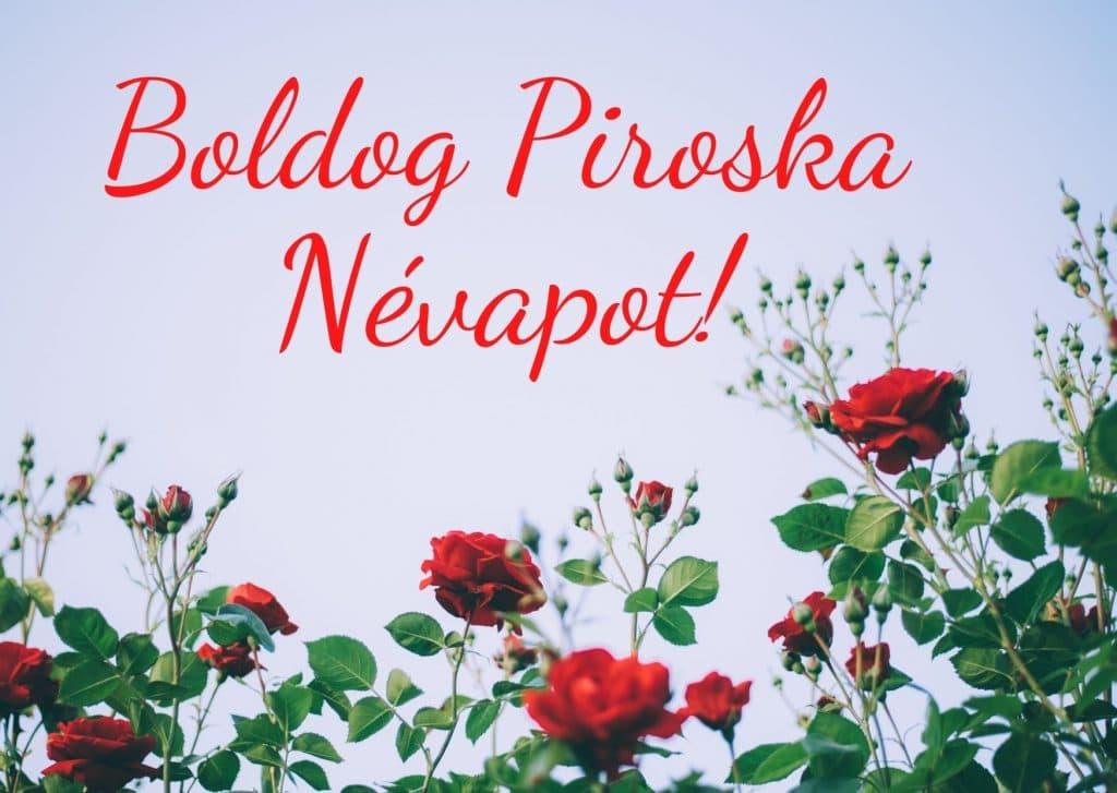 Piroska névnapi képeslap