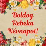 Rebeka napra képeslap
