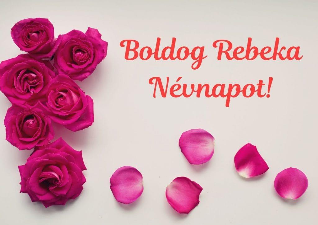 Rebeka névnapi képeslap