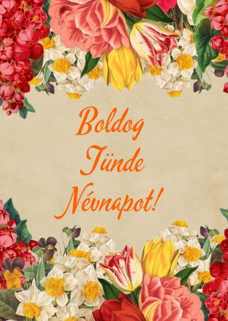 Tünde névnap képeslap