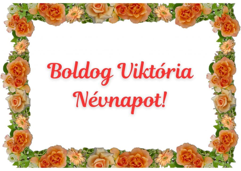 Viktória névnapi képeslap