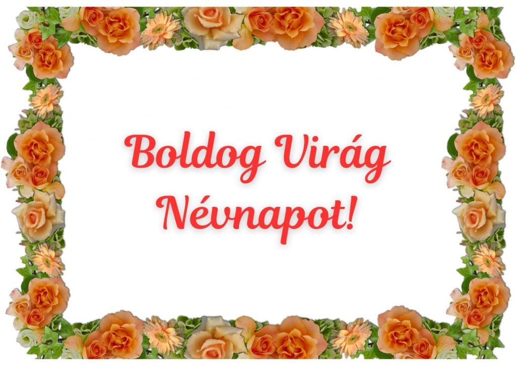 Virág névnapra képeslap