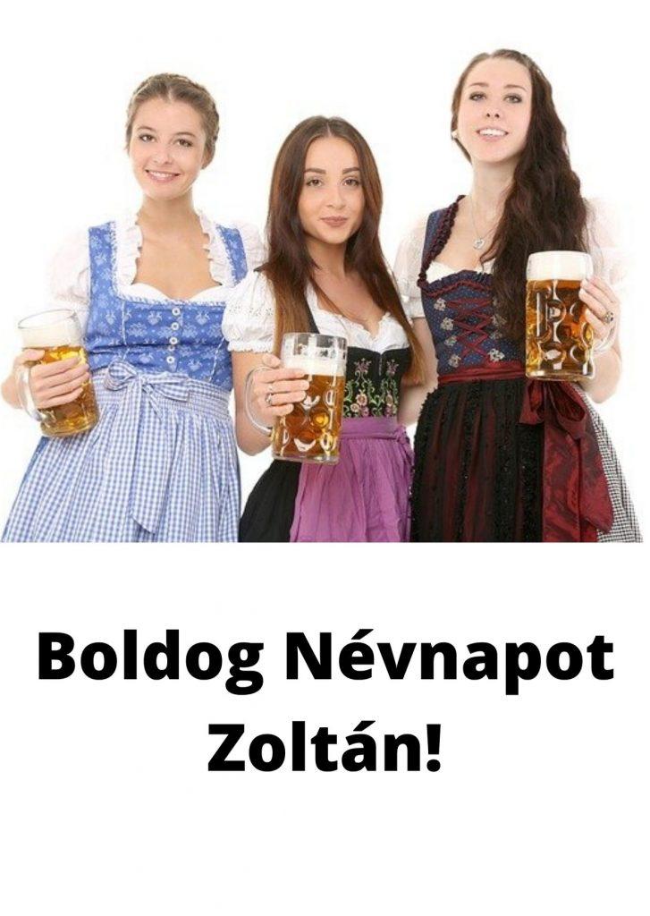 Zoltán névnap képeslap
