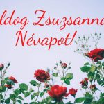 Zsuzsanna névnapra képeslap